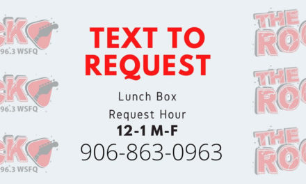 Text to Request on the Lunch Box on The Rock 96.3
