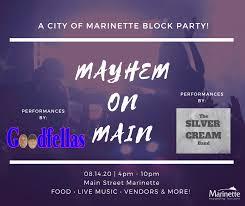 Marinette's Mayhem on Main Cancelled