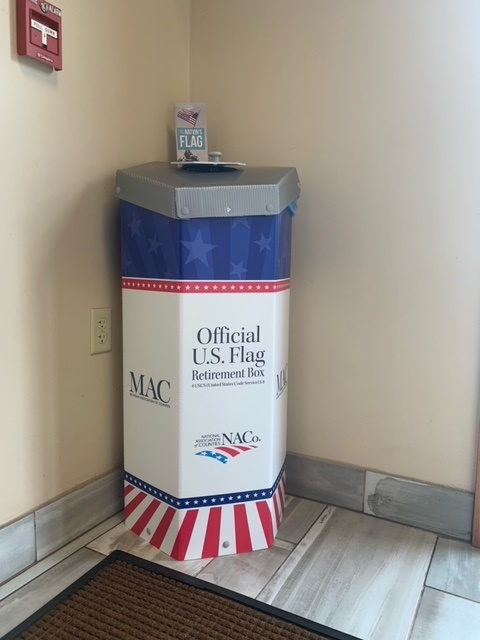Menominee County provides new option for proper disposal of worn U.S. flags.