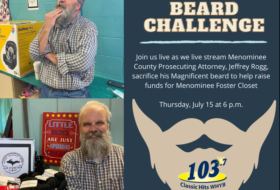 Beard Challenge Fundraiser to help U.P. Foster Closet in Menominee