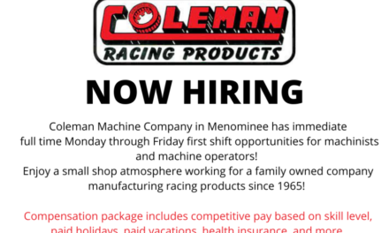 JOB POSTING: COLEMAN MACHINE NOW HIRING