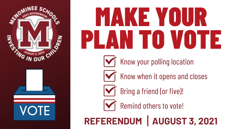 Voting is today for the Menominee Area Public Schools $12 million Referendum