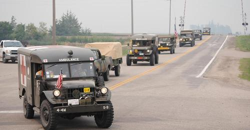 Vintage war vehicles will be making stop at the Community REC Center Wednesday